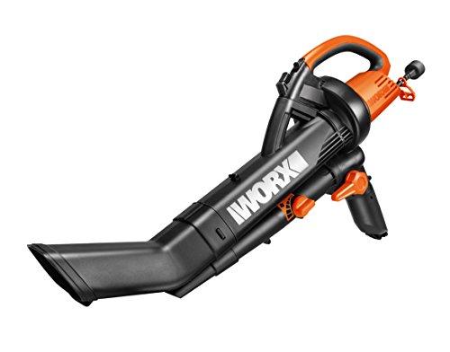 WORX WG505E 3000W Trivac Garden Blower Mulcher & Vacuum, Black
