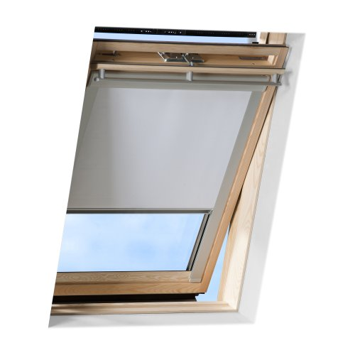 VICTORIA M Tenda a Rullo Adatta per finestre per tetti Velux/Tenda a Rullo Oscurante per lucernari Velux/GGL C04 Bianco