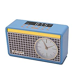 ByronStatics Alarm Clock FM Radio Big Led Number Simple Clock Control Button Easy Set and Adjust 2 Levels Dimming Light Loud Built in Speaker with Headphone Jack 24 Hours 2 Alarm Clock - Blue