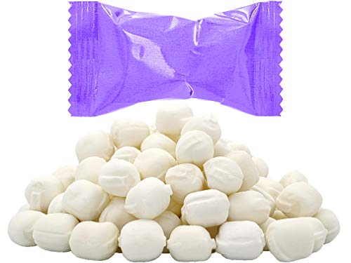 Purple Buttermints, Mint Candies, After Dinner Mints, Butter Mint Candy, Fat-Free, Individually Wrapped (55 Pieces)