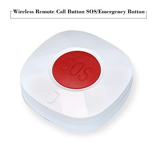 Festnight Botón de Llamada remota inalámbrica SOS/Botón de Emergencia 433 MHz Paginador del Cuidador para Cama/Silla/Tapete de Piso Alarma de caída Paciente Anciano Desactivado Presione