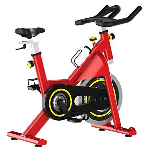 Yuefensu Bicicleta de ejercicio para el hogar, bicicleta silenciosa, para interiores, deportes, fitness, bicicleta fija, bicicleta vertical (color: rojo, tamaño: 122 x 99 x 53 cm)