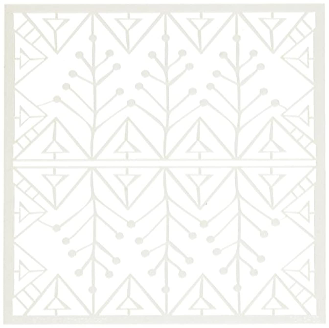 CRAFTERS WORKSHOP TCW6X6-543 Snow Branch Template, 6 by 6
