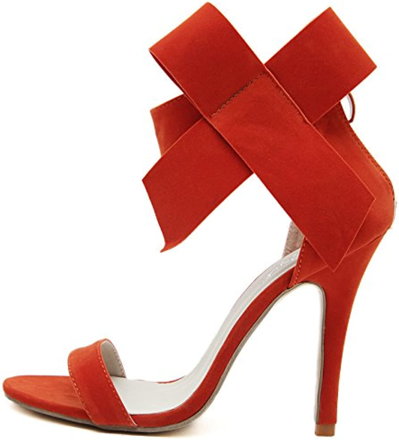WHW Women's Hole shoes Leatherette Summer Outdoor Dress Casual Walking Platform Sandals,red,40