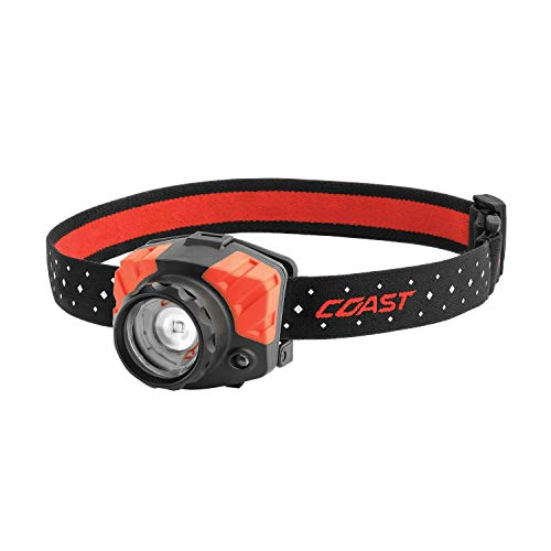 Coast FL85R 700 Lumen Dual Color (White/Red) Focusing Rechargeable LED Headlamp, Rechargeable Battery Included