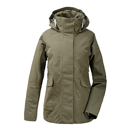 Didriksons Unn Womens Jacket - Regenjacke, Größe_Bekleidung_NR:46, Farbe:Dusty Olive