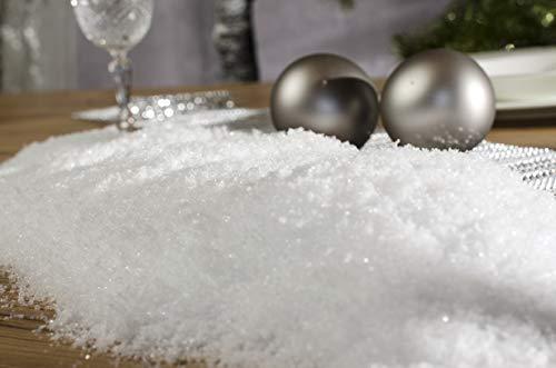 Riffelmacher 68008 Pulverschnee Kristallschnee Kunstschnee im Beutel-Weihnachten und Basteln 4 Liter, Weiß