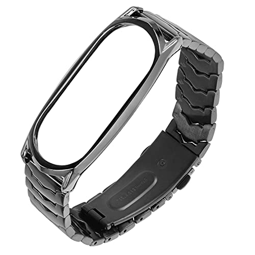 Bandas de relógio Metal pulseira compatível para mi faixa 5/4/3 luxuoso alça de alça de banda inteligente