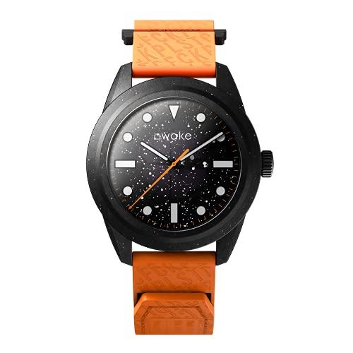 AWAKE ELT02 - Reloj solar para hombre, fabricado a partir de red de pesca reciclada, impermeable, 50 m, marca francesa, solo 29 gramos