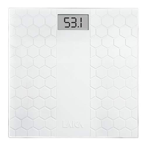 Laica Ps1070 Bilancia Pesapersone Elettronica con Morbido Tappeto Antiscivolo, Bianco