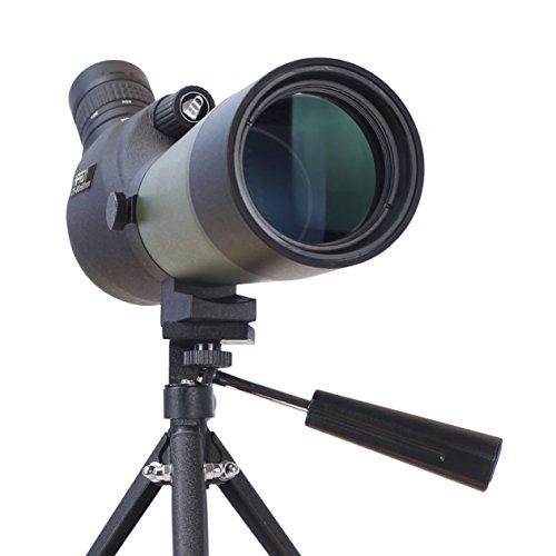 TecTecTec - Telescopio MPRO1 con un aumento extremo de 60 x 60 - Con trípode y bolsa de transporte - Zoom óptico