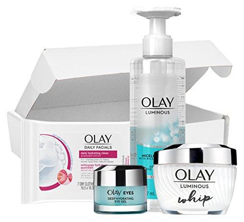Buy Bargain SkinCare Kit by Olay Luminous Daily Glow Regimen Kit, Cleanser + Whip Moisturizer + Eye ...