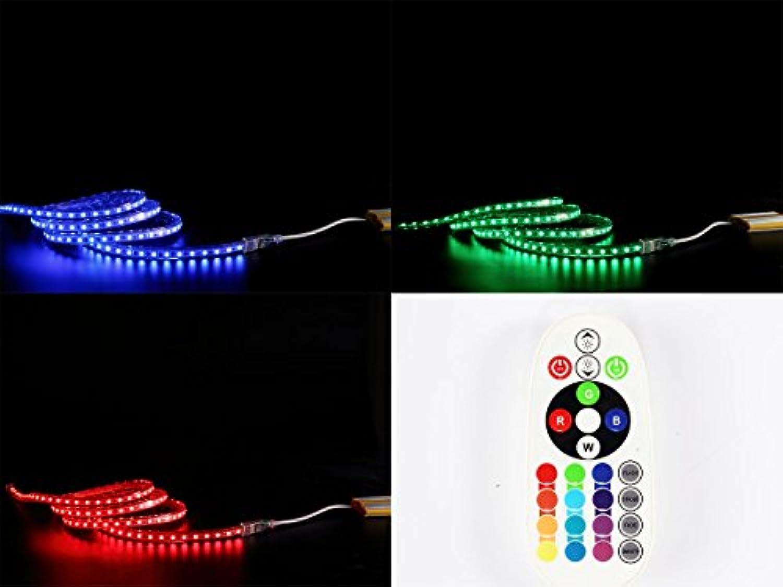 3-50m Ogeled 230V RGB LED 60 leds Strip Streife leiste ip65 mit Kontroller Dimmer FB (8M)