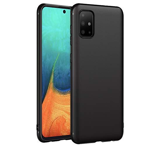 EasyAcc Coque pour Samsung Galaxy A71, Etui Souple Flexible en Premium TPU Noir Case Cover Compatible avec Samsung Galaxy A71 Smartphone Slim Housse de Protection Mate Légère - Noir