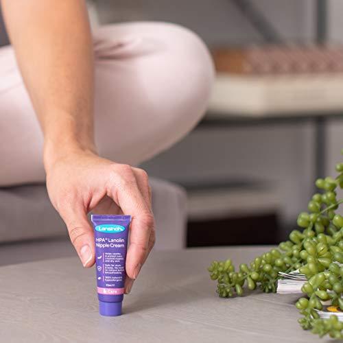 Lansinoh Crema Lanolina HPA para el Pezón,10 ml. 100% natural, calma y protege pezones agrietados y con dolor.