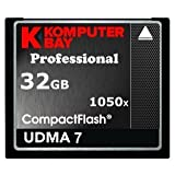 KOMPUTERBAY 32GB Professional COMPACT FLASH CARD CF 1050X WRITE 100MB/S READ 160MB/S Extreme Speed UDMA 7 RAW 32 GB by Komputerbay [並行輸入品]