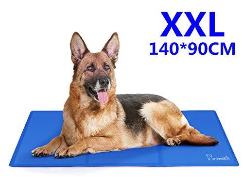 Pecute Koelmat voor honden Extra groot 140x90cm, Duurzaam Koelmat voor huisdieren Niet-giftig Gel Zelfkoelend kussen - Geweldig voor honden Katten in hete zomer