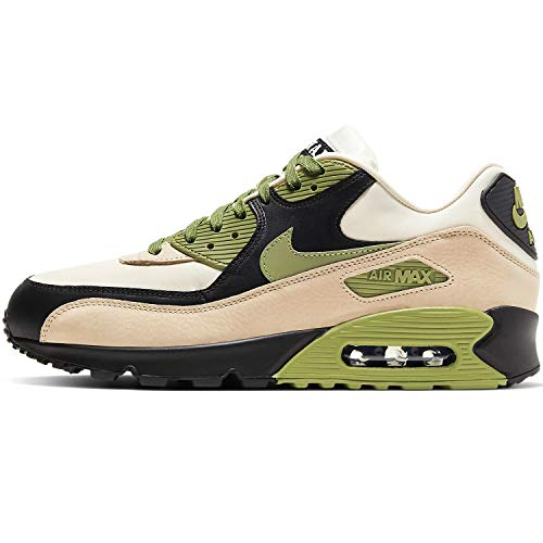 Nike Air MAX 90 NRG, Zapatillas para Correr Hombre, Light Cream Alligator Pale Ivory Black, 41 EU