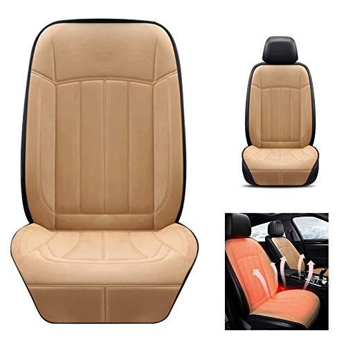 UOWEG Sitzheizung Auto Auflage DC 12V/24V Heizung Autositzkissen mit Intelligent Temperature Controller Winter Universial Autositz Wärmer für PKW SUV MPV Vorderer Stuhl