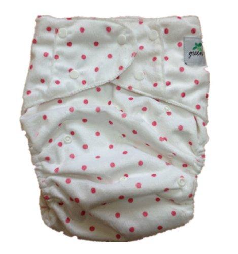 Green大人介護用布おむつカバー 赤水玉柄 サイズ調整可 SML対応
