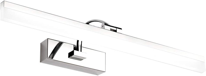Spiegellampen Spiegelleuchte Bad Spiegellampe Wandleuchte Retro Spiegel Scheinwerfer Bad LED Spiegelleuchte WC Spiegelschrank Licht Make-up Licht ZHAOYONGLI (Farbe   Weies Licht-50  10.5  17.5cm)