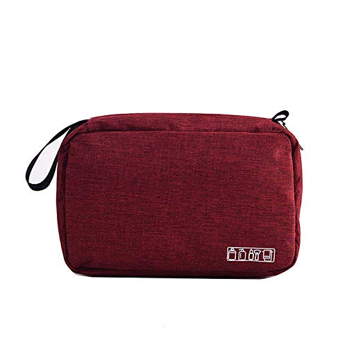 SoloTravel Cosmetic Makeup Pouch Travel Kit for Men & Women (Red Color)