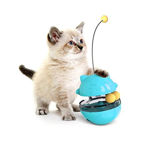 Sunshine smile Spielzeug Katze Intelligenzspielzeug,Spiels Federspielzeug,360 ° drehbar,Interaktives Katzenspielzeug für den Innenbereich,Katzen Federspielzeug, Katzenspielzeug Katze Bälle