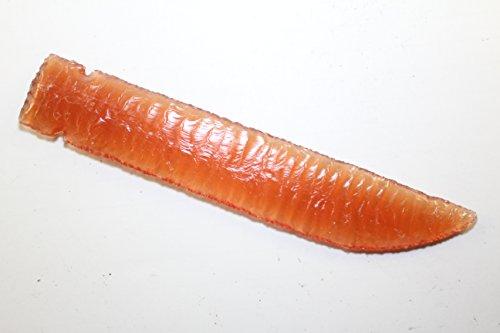 Orange Fiber Optic Glass Man Made Flint Knapped Pressure Flaked Domed Knife Blade Dagger Gem Point D.I.Y. Game of Thrones Comic Con/Cosplay Dagger Point