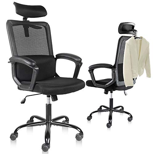 Smugdesk Office Chair, High Back Ergonomic Mesh Desk Office Chair with Padding Armrest and...
