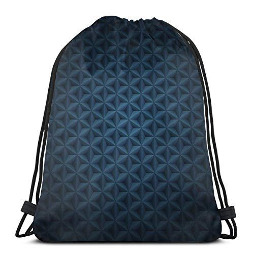 Nahtlose volumetrische Tasche mit Kordelzug, dunkelblau, leicht, für Wandern, Yoga, Fitnessstudio, Schwimmen, Reisen, Strand