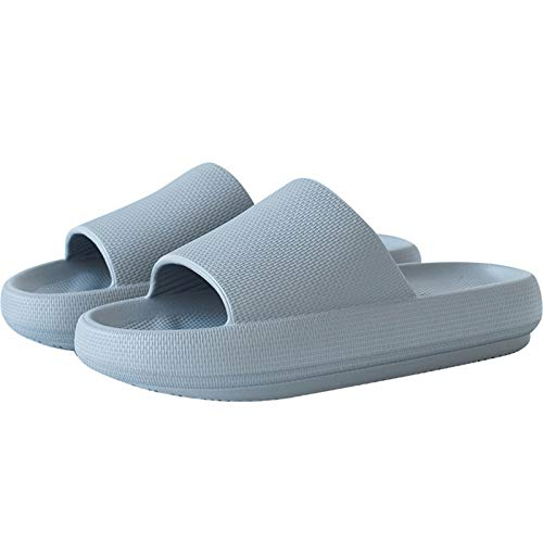 Chanclas unisex de verano, sandalias con plataforma, para interiores, antideslizantes, unisex, color Azul, talla 42 EU