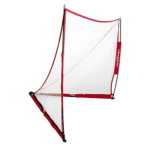 PowerNet Portable Lacrosse Goal | 6 Foot by 6 Foot | Quick and Easy Two Minute Setup No Tools Required | Perfect for Practice or Scrimmages | Bow Style Frame | Carrying Bag Included