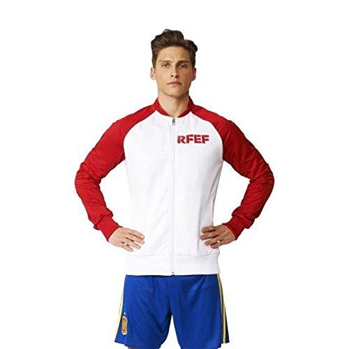 adidas Federación Española de Fútbol Anth JKT Wo 2016 - Chaqueta para Mujer, Color Blanco/Rojo, Talla S