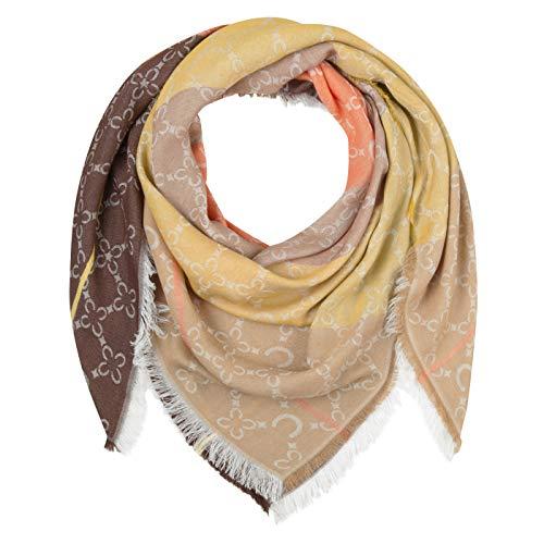 CODELLO Damen Tuch, Halstuch, Fein fließend | Logo-Design | 100% Viskose | 120 x 120 cm