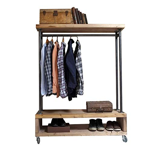 Cosywood Industrie-Stil Kleidung Aufbewahrungs-Einheit