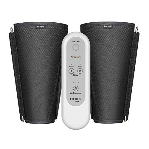 FIT KING Massagegerät für Bein Arm und Fuß Massage, Luftdruckmassage für Zuhause bei Verspannungen und Schweren Beinen mit 2 Modi 3 Intensitätsstufen FT-008A