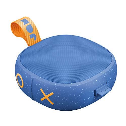 Jam Hang Up Cassa Altoparlante Bluetooth, Driver 3 W, 8 Ore di Riproduzione, Impermeabile, Certificazione IP67, Porta Aux In, USB Integrato, Blu