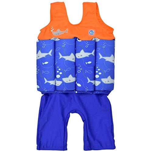 Splash About - Traje de Flotador para bebé (Unisex, con flotabilidad Ajustable), Unisex bebé, Color Shark Orange, tamaño 1 a 2 años
