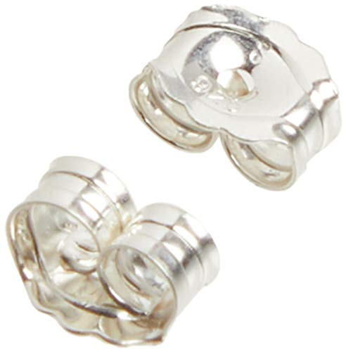 Beadaholique 5005080 Sterling Earring Backs, 4mm, Silver, 12 Piece (Pack of...