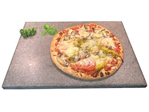 Tazado Pizzastein, Brobbackstein aus Naturstein 40 x 30 x 2cm bis 1200 Grad. Made in Germany. Hitzebeständig, säurebeständig und sehr pflegeleicht.