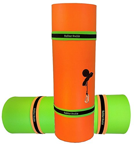 Rubber Dockie 18x6-Feet Floating Mat, Orange/Green (RD18OGT2)