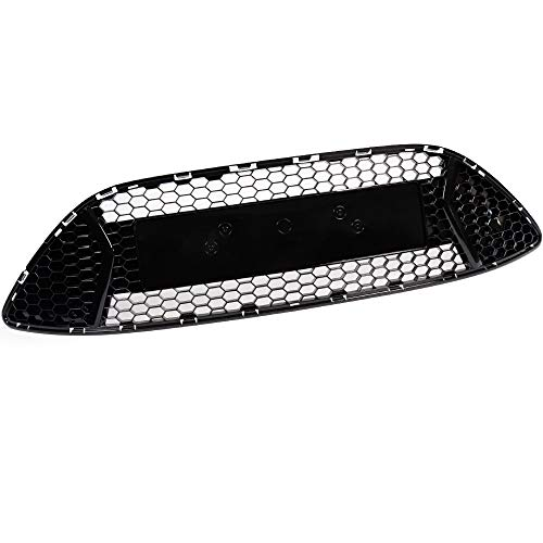 New Gloss Black Compatible For Ford Focus ST 2013-2014 OEM Genuine Grill Front Bumper Center Honeycomb Mesh Grille Radiator Hood Insert