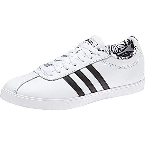 adidas Courtset, Zapatillas de Tenis Mujer, Blanco (Ftwwht/Ftwwht/Cblack Ftwwht/Ftwwht/Cblack), 44 EU