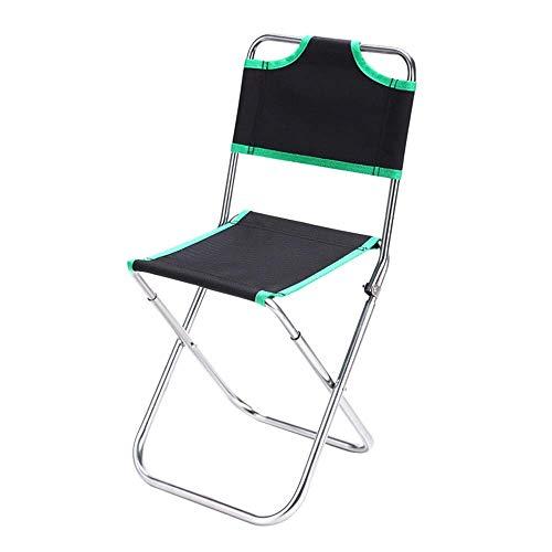 Silla Plegable Ligera Silla de la pesca, de aluminio plegable respaldo silla plegable silla de camping Silla portátil, for hacer senderismo, camping, caza, la pesca, silla de camping peso ligero
