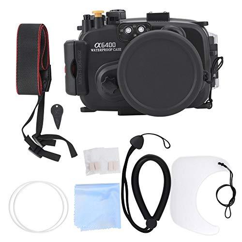 Akozon Estuche Impermeable para cámara de acción Estuche Protector subacuático para cámara Sony A6400 Carcasa de Buceo 40M Jaula de Carcasa Impermeable