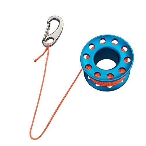 Aluminium Spule mit Leine Mini Reel Tauchen Sport Zubehör - Blau