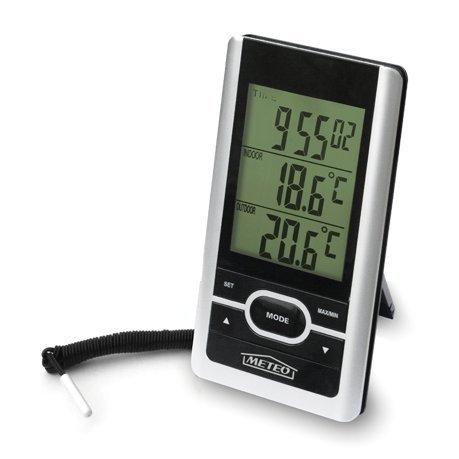 Meteo Estación Meteorológica de Casa con Reloj, Termometro