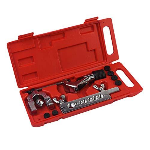 perfeclan 5-16mm Bördelgerät Bremsleitung Bördelwerkzeug Bördelset mit rotem Aufbewahrungskoffer,