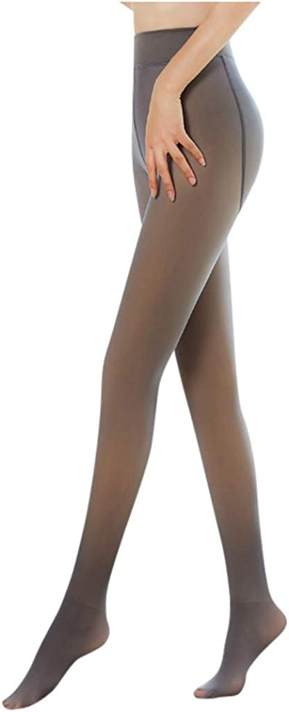 Women Perfect Legs Fake Translucent Warm Fleece Stretchy Pantyhose,Tight Fit, Shape Your Perfect Body Shape
