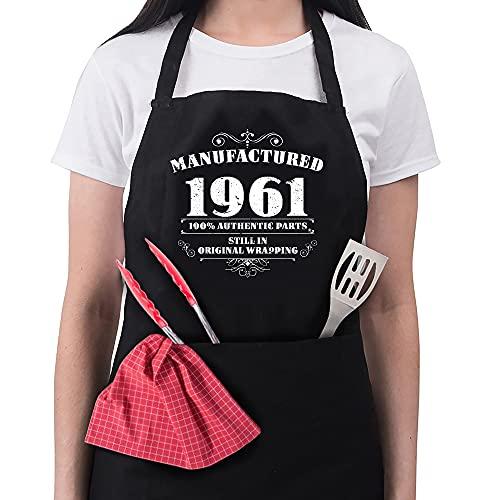 Femme 60E anniversaire Cadeau Tablier fabriqué 1958 tabliers cadeaux d'anniversaire 60 ans